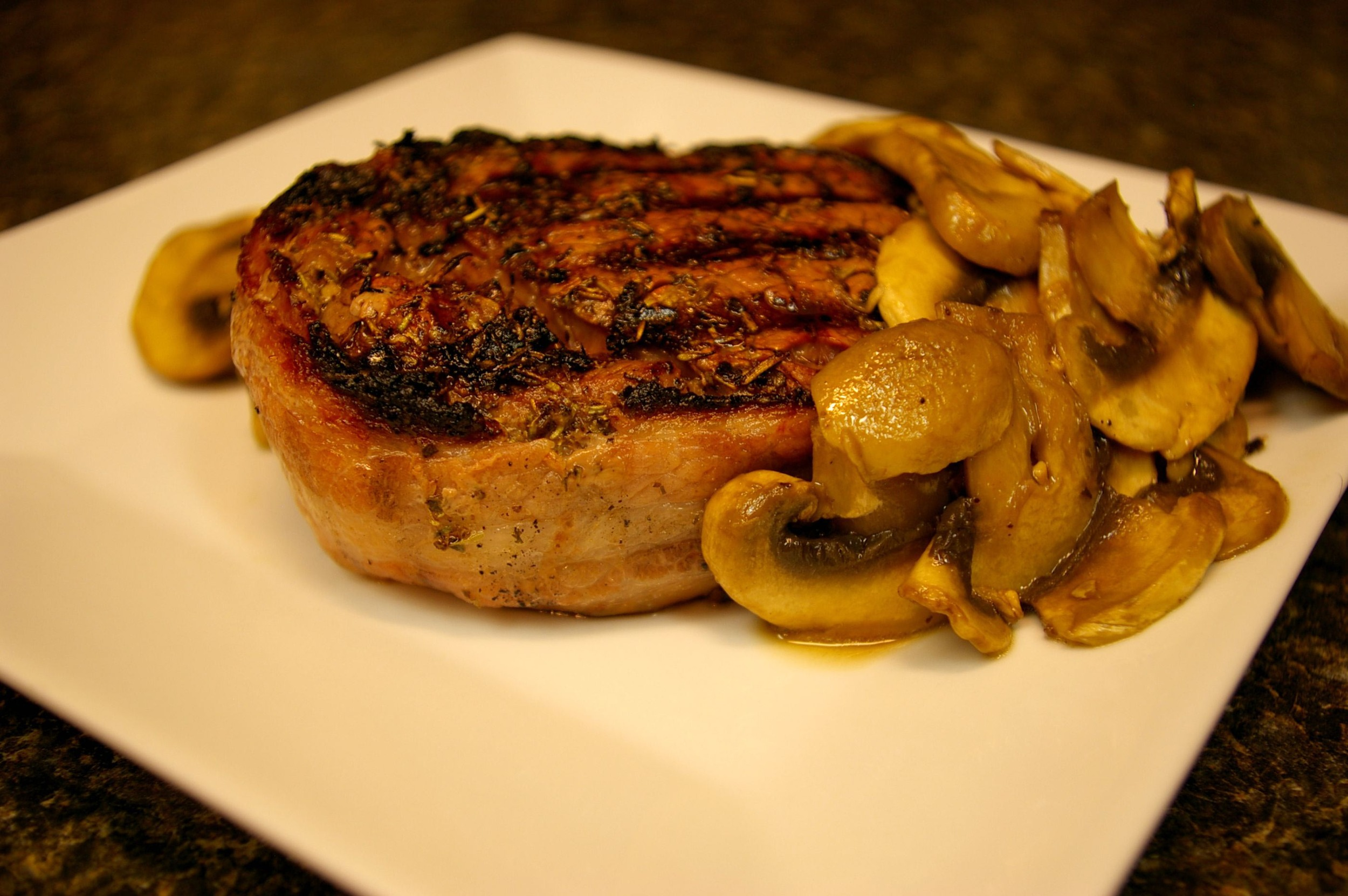 Chili rib eye steak